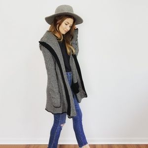360 Cashmere Hooded Cardigan Sweater